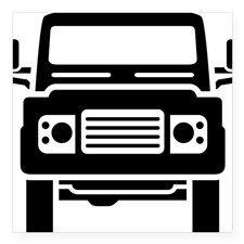"Land Rover illustration Square Sticker 3"" x 3"""