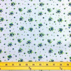 Buttercup Blue Print Broadcloth