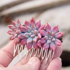 succulent hair piece by Iryna Osinchuk-Chajka