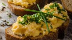 Onion and Chive Scrambled Eggs on Toast Garlic Benefits, Aged Cheese, Egg Toast, Scrambled Eggs, Healthy Options, Recipe Of The Day, Brunch Recipes, Allrecipes, Mashed Potatoes