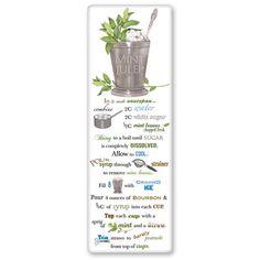 Flour Sack Towel Mint Julip Recipe