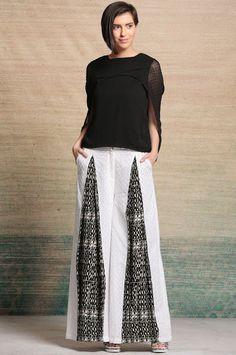 Box Pleat Palazzo at INR 957/-     #palazzopants #blackandwhite #fashionstyle #trendalert #styleoftheday