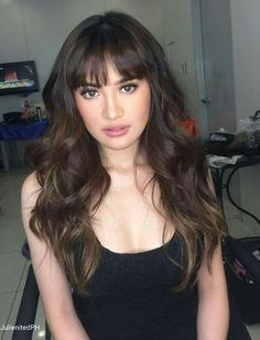 Julie Anne San Jose  Asia's Pop Sweetheart Filipina Beauty, Panda Wallpapers, Julie Ann, Pretty Face, Asian Girl, Curly Hair Styles, Most Beautiful, Photo Editing, Hairstyle