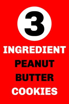 3 ingredient peanut butter cookies recipe! Everyone LOVES these cookies and they're so easy to make! With just three ingredients and about 30 minutes, you too can have delicious peanut butter cookies. Best of all, they're pantry ingredients so you likely already have everything you need on hand! #peanutbuttercookies #3ingredientpeanutbuttercookies #cookies #peanutbutterlovers #peanutbutter #pbcookies #cookietime #cookielovers #easyrecipes #3ingredientrecipes #delish #yummy #nomnomnom #foodie