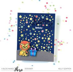 Like Hero Arts Star Confetti die with the sequins added to the middle of some of the stars.