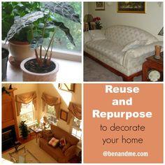 Reuse and Repurpose for your home - Frugal decorating @BenandMeblog