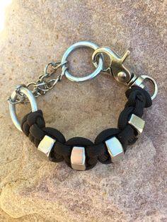Hex nut para cord chain bracelet by karlpwearjewelry on Etsy