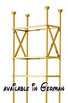 B013ONL332 : Casa Padrino Luxus Regal Schrank Edelstahl Gold mit Glasböden B 65 x H 230 cm Bücherregal Regal Schrank - Art Deco Möbel. Casa Padrino Luxus Regal Schrank Edelstahl Gold mit Glasböden B 65 x H 230 cm Bücherregal Regal Schrank - Art Deco Möbel. Farbe: Gold. Breite ca 65 cm. Höhe ca 230 cm. Tiefe ca 30 cm