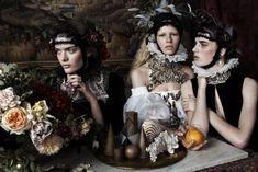 ''Still Life'' amazing fashion editorial shot by Josh Olins for Vogue UK December 2013