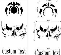 Skull Skulls Cornhole Board Decals Flag Stickers Graphics Wrap Bag Toss Bean Baggo SK15