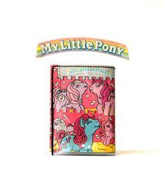 MY LITTLE PONY Portemonnaie 80er Comic upcycling Unikat! Tasche, Geldbörse, Brieftasche, Geldbeutel Pferde Comic wallet handmade in Berlin von PauwPauw auf Etsy