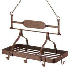 Country Cow Kitchen Rack pots pans hanger storage rustic