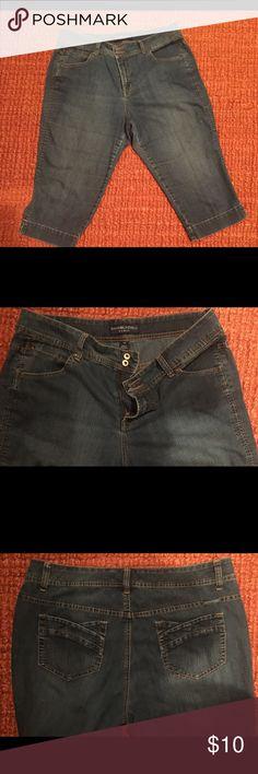 Bandolinoblu Woman 16W Capris! Bandolinoblu Woman 16 W Denim Capris. There is a frazzled thread on the back right pocket! bandolinoblu Woman Pants Capris