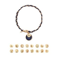 Make it personal. Wear your own and your loved one's initials. This beautiful black textured disc and engraved initial in goldtone is paired with a goldtone and black braided cord. Regularly $14.99, shop Avon Jewelry online at http://eseagren.avonrepresentative.com