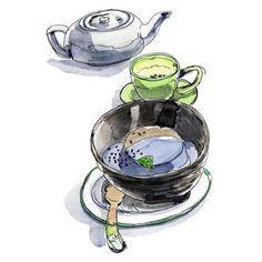 大人の女性のための締めスイーツ Watercolor Food, Watercolour, Food Illustrations, Sweets, Tableware, Image, Pen And Wash, Watercolor Painting, Dinnerware