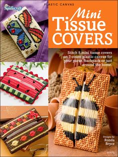 Mini Tissue Covers in Plastic Canvas (pattern book - not free).  Love these patterns!