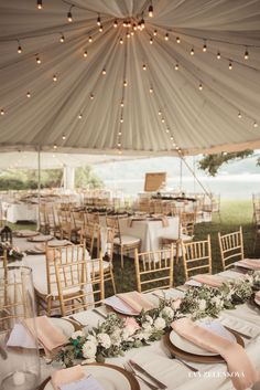 How to make super simple wedding decorations on a budget - outdoor lights Wedding tent lighting Wedding Tent Lighting, Wedding Decorations On A Budget, Party Tent Decorations, Outdoor Lighting, Lighting Ideas, Ceremony Decorations, Wedding Centerpieces, Simple Weddings, Romantic Weddings