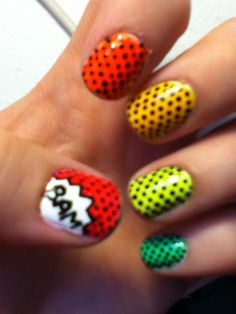 Repainted nails with smaller dots and another cute addition!