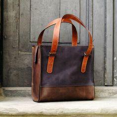 handbag woman natural leather purse Squer art design door ladybuq