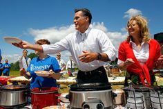 I love to cook, and I was honored to have some of our supporters join us in serving my chili at a cookout at Scamman Farm in NH before Mitt's campaign announcement