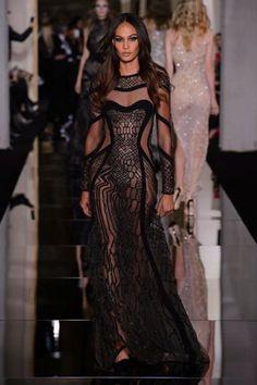 Versace vestido transparencias