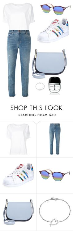 """Sans titre #6551"" by merveille67120 ❤ liked on Polyvore featuring Lemaire, J Brand, adidas, Ray-Ban, Tommy Hilfiger, Shaun Leane and Marc Jacobs"