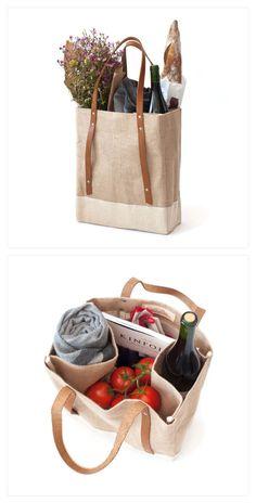 Reusable grocery bags, reusable produce bags and glass straws. Jute Bags, Fabric Bags, Market Bag, Reusable Bags, Cotton Bag, Cloth Bags, Canvas Tote Bags, Bag Making, Fashion Bags