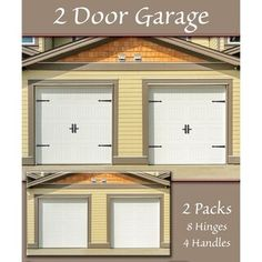 Premium Carriage House Magnetic Garage Door Hinges with Lever, Black, 6 pc Set