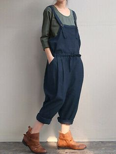 The Best Fashion Ideas For Women Over 60 - Fashion Trends Georgia, Cotton Jumpsuit, Type Of Pants, Jumpsuits For Women, Fashion Jumpsuits, Clothing Items, Lounge Wear, Underwear, Dressing