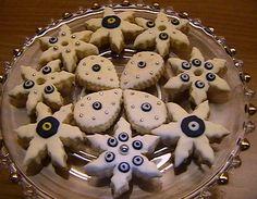 NAZAR BONCUĞU KURABİYE or Evil Eye Cookies  #evileye #food