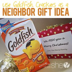Goldfish Gift  #howdoesshe #neighborgiftideas #neighborgifts howdoesshe.com