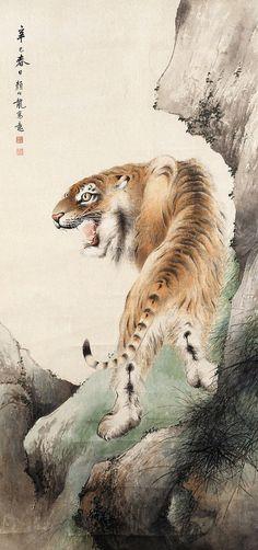 颜伯龙 虎 北京荣宝2004春 | Tiger Painting @ China Online Museum | China Online Museum - Chinese Art Galleries | Flickr