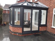 Residence Collection #R7 Flush Victorian conservatory in Eclectic Grey, installed in Tollerton, Nottingham. . #R7 #Flush #Casement #Tollerton #Nottingham #Upvc #Conservatory