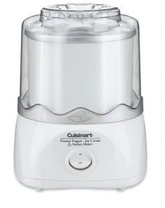 Special Offers - Factory-Reconditioned Cuisinart ICE-20FR Automatic Frozen Yogurt-Ice Cream & Sorbet Maker White - In stock & Free Shipping. You can save more money! Check It (March 29 2016 at 03:11PM) >> http://dripcoffeemakerusa.net/factory-reconditioned-cuisinart-ice-20fr-automatic-frozen-yogurt-ice-cream-sorbet-maker-white/