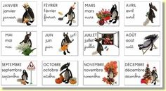 Les mois de l'année Teaching French, French Classroom, School Classroom, Photomontage, Core French, Petite Section, French Lessons, Learn French, Livros