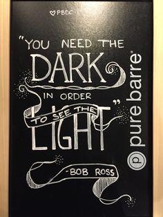 Chalk quote - Bob Ross