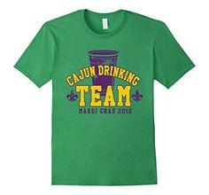 Mardi Gras TShirt Cajun Drinking Team 2016 - Male Small - Grass Mardi Gras Shirts