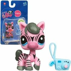Littlest Pet Shop Exclusive Single Figure Pink Zebra by Hasbro. $9.95. Add another friend to your LITTLEST PET SHOP collection! This adorable zebra pet just loves to capture the world on his little camera. Now that you two are the best of friends, he can take all kinds of pictures of both of you together. Say cheese!Zebra pet comes with an accessory.Pet #2078