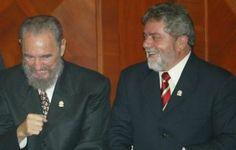 Lula_e_Fidel http://veja.abril.com.br/blog/felipe-moura-brasil/america-latina/conheca-o-foro-de-sao-paulo-o-maior-inimigo-do-brasil/