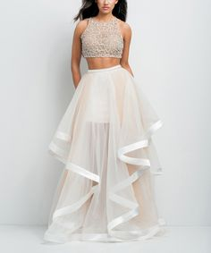 dress up ballet shoes on sale at reasonable prices, buy Vestidos De Formatura Two Piece Prom Dresses 2015 New Beaded Organza 2 Piece Prom Dress Vestidos De Noche Formal Evening Gowns from mobile site on Aliexpress Now! Pretty Dresses, Sexy Dresses, Beautiful Dresses, Formal Dresses, Terani Dresses, Long Dresses, Formal Prom, Summer Dresses, 2 Piece Prom Dress