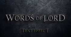 This is a very subtle medieval metallic text effect in photoshop. It will look great while waiting for winter to come. We also added a great grunge