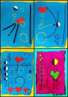 Valentine's Day Crafts For Kids, Art For Kids, Joan Miro Pinturas, Art History Major, Ecole Art, Valentines Art, Preschool Art, Pin Art, Art Plastique