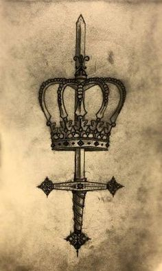 Image result for sword crown tattoo