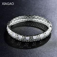 XIAGAO Silver/Gold Color Fashion Bracelets Women Bracelet Love Bangles for Women Cuff Arm Jewelry Bijoux Femme Pulseiras Z026