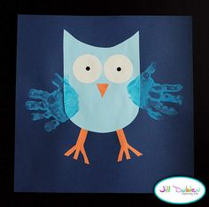 I'm doing this at the daycare with my kids, bur ill also do girl owls in pink or purple :)