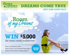 """Get that baby nursery done! The """"ROOM OF MY DREAMS"""" $5,000 Sweepstakes (Ends June 30, 2013) http://www.facebook.com/BHGRealEstate"""