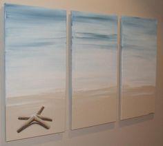 Items similar to Starfish Sandy Beach - Original Seascape Canvas Painting by Stephanie on Etsy Seashell Art, Starfish, Beach Pictures, Beach Pics, Ocean Crafts, Beach Condo, Under The Sea, My Dream Home, Beach Houses