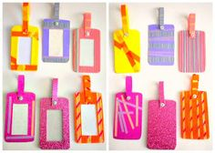 Washi-embellished Homemade Bag Tags!  Super fun to make!