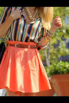 Orange & Stripes