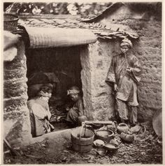 """""""Beggars Living in a Tomb"""" by John Thomson. Illustrations of China and Its People, volume 2 (1873)"""